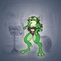 Angela's Magic Lesson - Frog in Her Throat by Mr-DNA