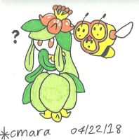Lilligant and Combee