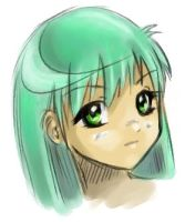 green hair :_ by emi-chan