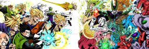 Collab DBZ Heroes VS Villains by Maniaxoi