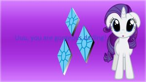 Wallpaper with Gorgeous Rarity by Barrfind