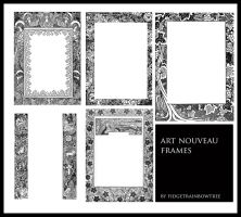 Art Nouveau Frames 1 by FidgetResources