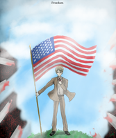 APH - 07/04 American Independence day drawing by K-AMB