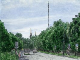 Krasny Kazanets Street (where a highway will be) by Vokabre