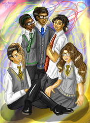 The Squad At Hogwarts by lollypop081