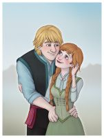 Kristoff+Anna in Summer by Lucy--C