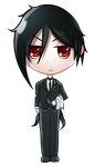 Sebastian Michaelis (chibi avatar) by JessHavok