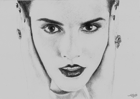 Drawing: Emma Watson by crazyemm