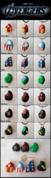 Avengers Popsicles by cheese-cake-panda