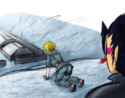 FF7 Cloud and Zack meeting 2 by Dragona15