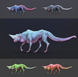Fantasy Creature Drawing by MarcBrunet