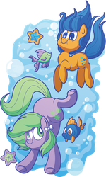 Bubbles and Seashell by xkappax