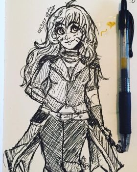 Yang Ballpoint Pen Challenge by OdeToGrapes
