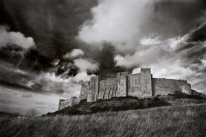 Bamburgh Castle- mono by newcastlemale