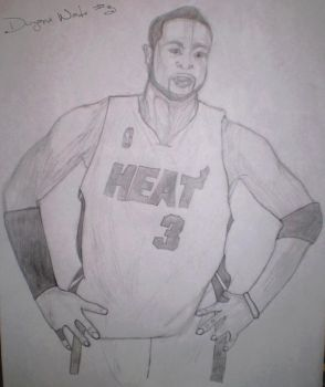 Miami Heat Dwyane Wade by LeBron6