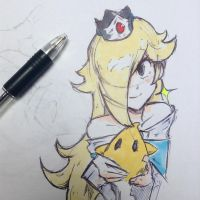 Rosalina and LOOMOR by gingrjoke