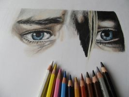 Kurt Cobain eyes by Mishice