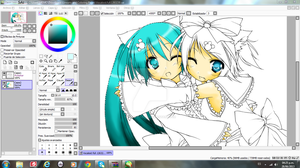Miku and Rin-Preview- by XCross-FateX