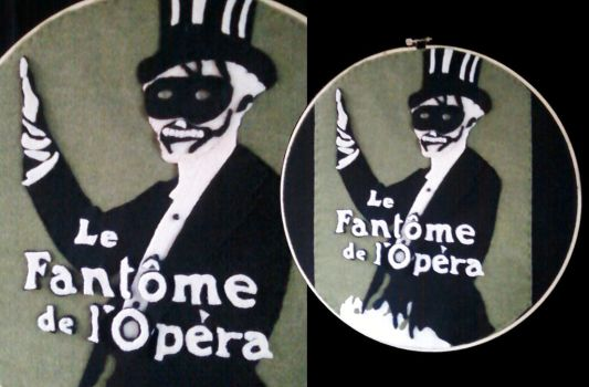 Le Fantome de l' Opera Embroidery by Mellowed-Mushroom