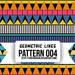 Pattern 004 - Geometric Lines by fanydragon