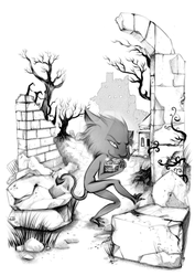Book page illustration - Goblin by Fiorina-Artworks