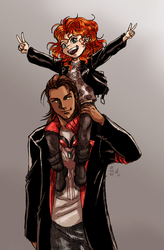 I Love my Daddeh this much-Jack and Lizzie Dahl by Foxy-Knight