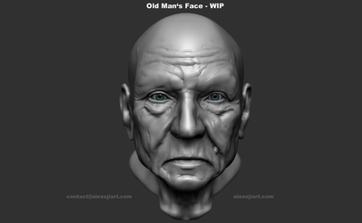 Old Man's Face by Alexeji