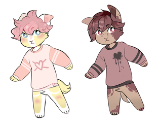 heart boy anthros - OPEN auction by OakAdopts