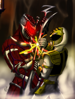Tommy vs Lord Zedd by Odin787