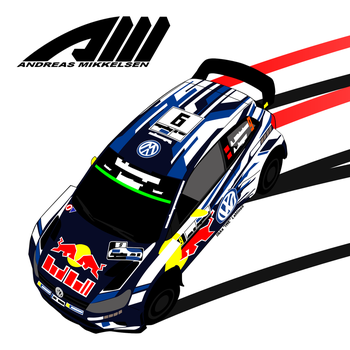 Andreas Mikkelsen - VW Polo WRC 2016 by I-W-E