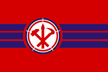 Greater North Korea flag 2 by LordDavid1996