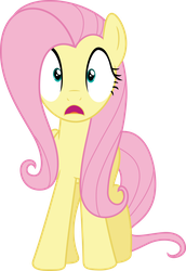 Fluttershy wide-eyed by Dusk2k