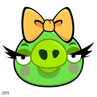 Angry Bird - Female pig by life-as-a-coder