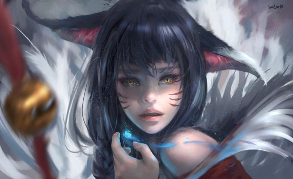 Ahri by wlop