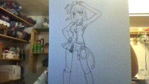 Lucy Heartfillia Sketch (Outlined in Black Marker) by iamanimegirl12