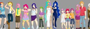 My Little Humans lineup 1 by Emberfan11
