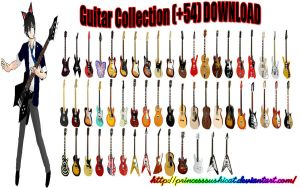 MMD Guitar Collection + DL by PrincessSushiCat