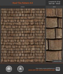 Roof Tile Pattern 4.0 by Sed-rah-Stock