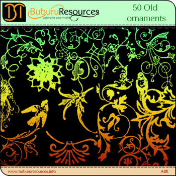 50 Old Ornaments brushes by BuburuResources