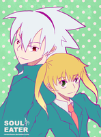 Soul and Maka by ravenchaser
