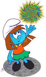 Student Smurfette by acla13