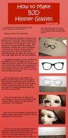 How to Make BJD Hipster Glasses by RodianAngel