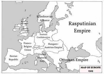 Tales from Elsewhere - Map of Europe 1925 by marcobrunez