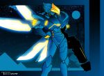Overwatch Pharah Blue Knight by Tom Kelly by TomKellyART