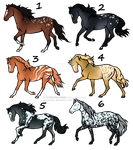 Equine adopts [points and art OTA] [3/6][OPEN] by TheAdoptArtist