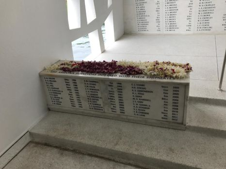 Inside the USS Arizona Memorial - Wall of Names by DarthShinji