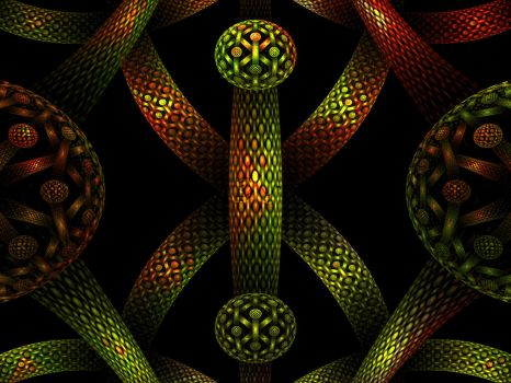 Tubes and Tiling 3 by cmptrwhz