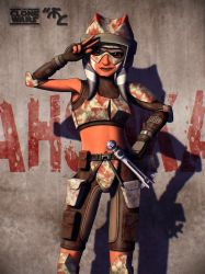 Ahsoka Red Camo Poster by Master-Cyrus