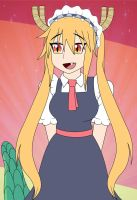 Chi no maid dragon: Tohru by HTFWhiskersthecat