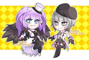 Commission: Chibi Batch 1 by AiiBee